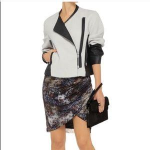 Helmut Lang jacket faux leather top shirt blouse